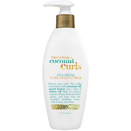 OGX Quenching Coconut Curls Frizz-Defying Curl Styling Milk, 6.0 FL OZ