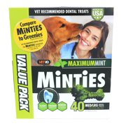 35% Off New Year Special! Minties Teeth Cleaner Dental Dog Treats Medium/Large, 40 count