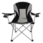 Ozark Trail Oversize Mesh Folding Camp Chair, Black/Platinum