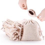 a392c3f061c87d 50pcs Small Cotton Double Drawstring Bags Reusable Muslin Cloth Gift Candy  Favor Bag Jewelry Pouches for