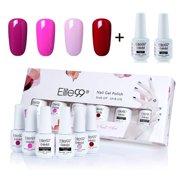 beda04218a Elite99 8ml Gel Polish Soak Off UV LED High Quality Gel Nail Polish Kit  With Top