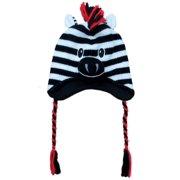 2e66dac5887 Aquarius Boys Black Zebra Critter Style Peruvian Hat