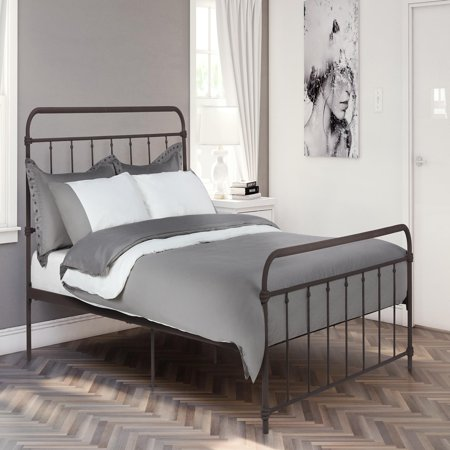 DHP Wallace Metal Bed, Multiple Sizes and Colors Bronze Queen Size Footboard