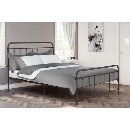 DHP Wallace Metal Bed, Multiple Sizes and (Outdoor Queen Size Bed)