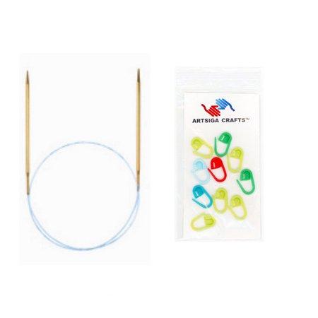 Addi Lace Turbo Circular Needles - addi Bundle: Turbo Lace Circular 16-inch (40cm) Knitting Needles with 10 Artsiga Crafts Stitch Markers