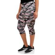 62245975d5049a Juniors' Plus Size Mesh Cutout Capri Leggings