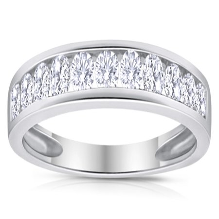 1/2ctw Diamond Channel Wedding Band in 10k White - 10k Gold Diamond Wedding Band
