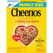 (2 Pack) Cheerios, Gluten Free, Breakfast Cereal, Large Size, 18 oz Box