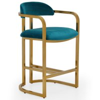 MoDRN Glam Marni Metal Base Counter Stool, Multiple Colors