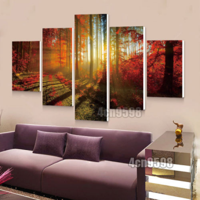 On Clearance My. Way 5 Pcs Frameless Canvas Prints Pictures, Morden Abstract Paintings, Canvas Wall Art, Home Decor