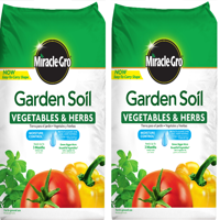 Miracle-Gro Garden Soil Vegetables & Herbs 1.5 CF (2 pack)
