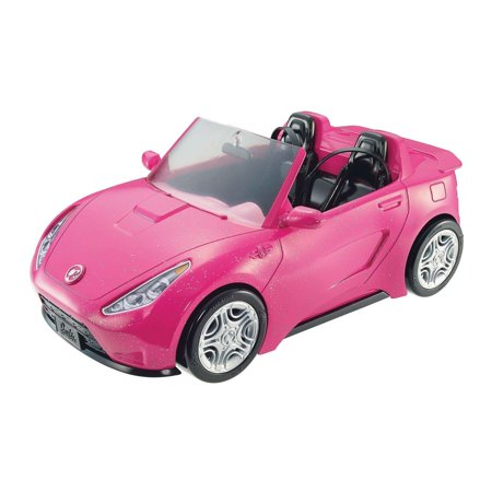 Barbie Glam Cruise Convertible Signature Pink Vehicle with Seatbelts (Soda Shop Barbie)