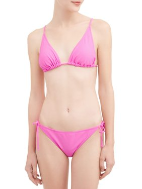 Juniors' Solid Triangle Swimsuit Top
