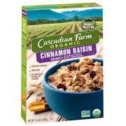 (2 Pack) Cascadian Farm Organic Granola, Cinnamon Raisin Cereal, 15.6 oz