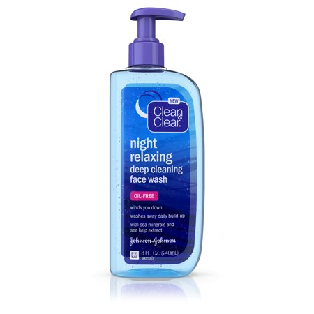 Clean & Clear Night Relaxing Oil-Free Deep Cleaning Face Wash 8 fl. oz