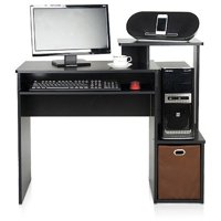 Furinno Econ Multipurpose Home Office Computer Writing Desk with Bin, Multiple Colors