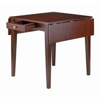 Winsome Wood Hamilton Double Drop Leaf Dining Table, Walnut
