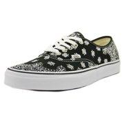 71de359492 Vans Authentic Men Round Toe Canvas Black Skate Shoe