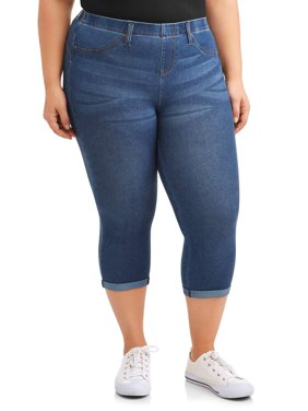 Women's Plus Size Jegging Capri