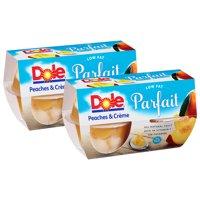 (8 Pack) Dole Fruit Bowls, Peaches & Creme Parfait, 4.3 Ounce (4 Cups)