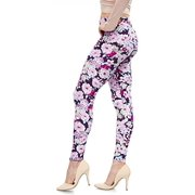 34cb008ea3cd4 LMB Lush Moda Extra Soft Leggings with Designs- Variety of Prints - 703F  Purple Floral