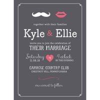 Lips and Mustache Standard Wedding Invitation