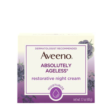 Aveeno Absolutely Ageless Restorative Night Face Cream, 1.7 fl.