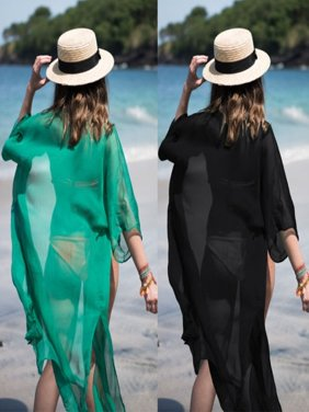 2018 Women Chiffon Bathing Suit Bikini Cover Up Beach Dress Swimwear Swimsuit Dress Cover
