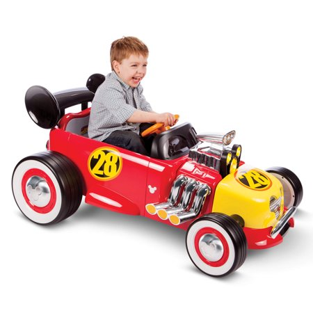 Disney Mickey Roadster Racer 6-Volt Battery-Powered Ride On by Huffy - Big Toy Car