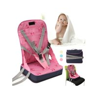 Foldable Baby Kids High Chair Dining Feeding Chair Booster Seat With Harness Safety Travel Dine Out Folding For Toddler Infant