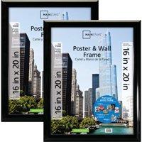 Mainstays 16x20 Trendsetter Poster & Picture Frame, Black, Setof 2