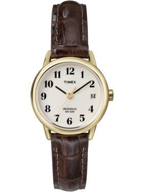 Timex Women's Easy Reader Brown Croco Leather Strap Watch