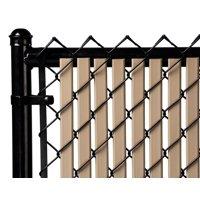 Beige 7ft Tube Slat for Chain Link Fence