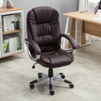 Belleze High Back Executive Faux Leather Ergonomic Desk Office Chair, Brown