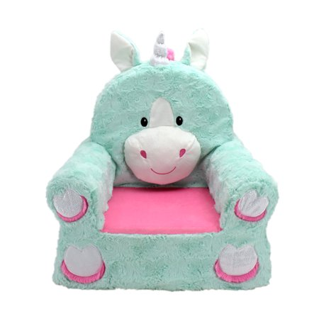 Chairs Seating Seat House Office (Sweet Seats Adorable Teal Unicorn Children's Chair, Standard Size, Machine Washable Removable Cover, 13