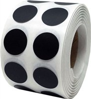 Black Circle Dot Stickers, 0.5 Inch Round, 1000 Labels on a Roll - Dot Sticker