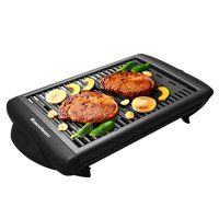 Electric Grill Indoor,Excelvan Electric Grill Griddle Indoor Outdoor Barbecue for Kitchen, 1120W, Black