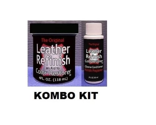Leather Refinish Color Restorer Dye & Cleaner/Preparer Combo Kit