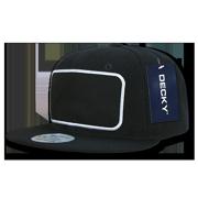 68359cca66510 DECKY 6 Panel Patch Snapbacks Hats Cap Caps Hat Unisex For Men Women Black