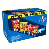 Kellogg's Variety Snack Pack Cheez-It Original and White Cheddar Cheese Crackers, Keebler Fudge Stripes Minis Cookies, Pringles, Rice Krispies Treats 30.18 Oz 30 Ct