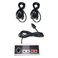 CONTROLLER GAMEPAD + 2 X 6' FT LONG EXTENSION CABLE CORD FOR NINTENDO NES CLASSIC MINI EDITION GAME CONSOLE