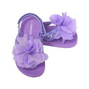 6b48c68d27f9 L Amour Purple Sequin Flower Flip Flop Sandals Toddler Girls ...