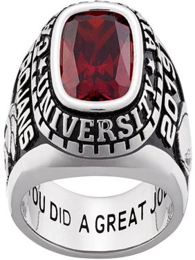 Personalized Men's Classic Sterling Silver Class Ring