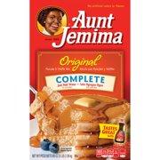 (6 Pack) Aunt Jemima Original Complete Pancake & Waffle Mix, 80 oz Box