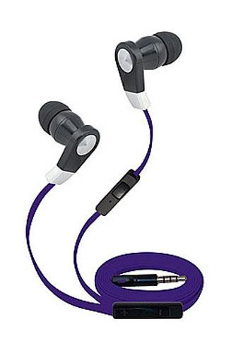 Super High Clarity 3.5mm Stereo Earbuds/ Headphone for LG V30S ThinQ, K10 (2018), Zone 4, G7,K8 (2018) (Purple) - w/ Mic & Volume Control + MND Stylus