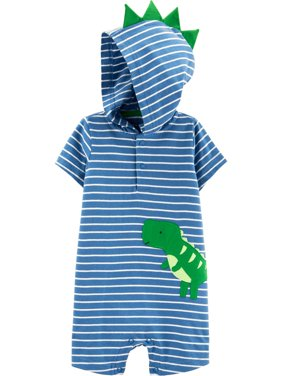 Short Sleeve Hooded Snap Romper, 1 pc (Baby Boys)