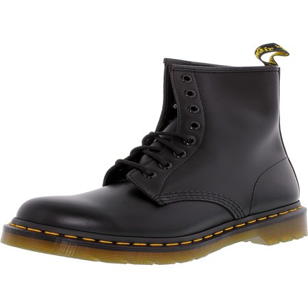 Dr. Martens Women's 1460 8-Eye Black High-Top Leather Boot - 8M - Kids Red Dr Martens