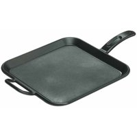 "Lodge 12"" Square Griddle Seasoned Cast Iron, P12SG3, with assist handle"