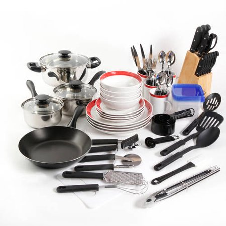 Tasty Dishes - Gibson Home Essential Total Kitchen 83-Piece Combo Set