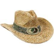 d6e803fe773 Mossy Oak Straw Cowboy Hat